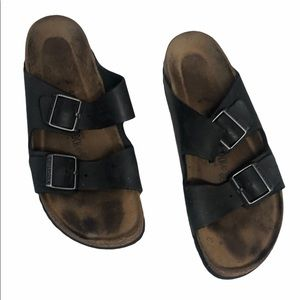 Birkenstock Arizona Black Leather Sandals